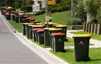Trash Cans lining the streets