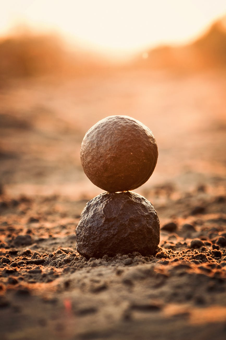 balance ground relaxation rock balancing
